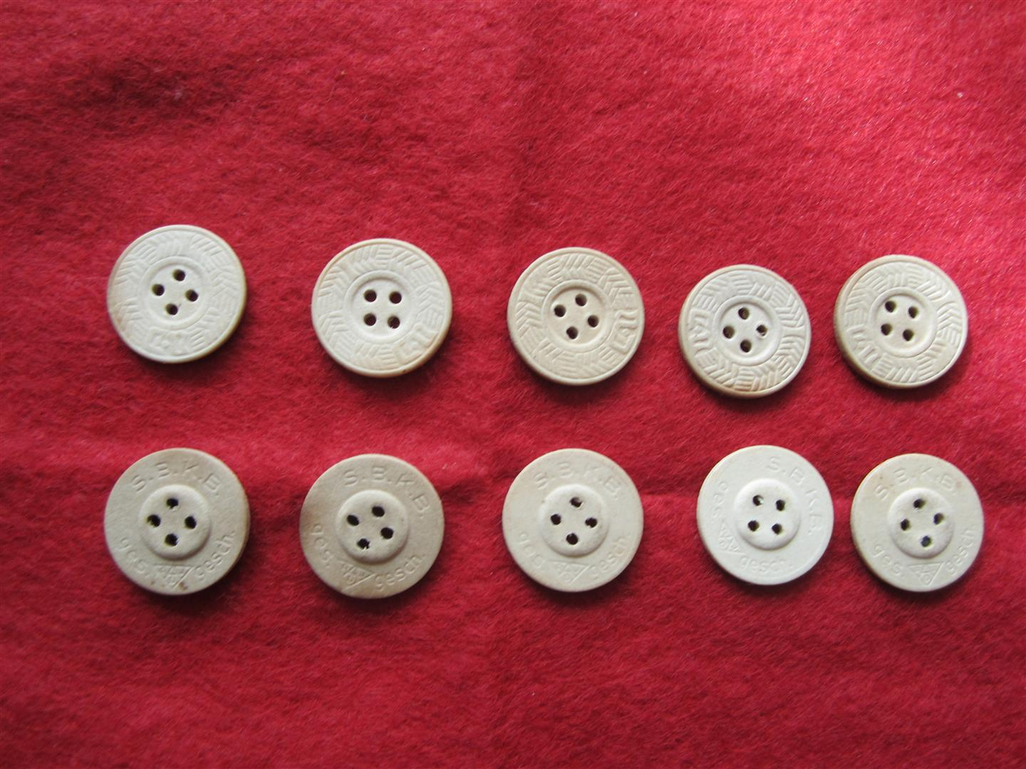 WW2 Fibre Shirt Buttons